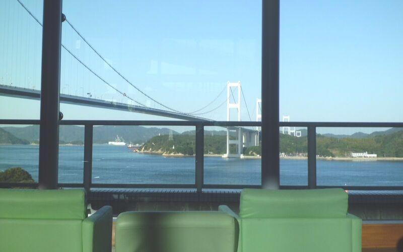 サンライズ糸山からの来島海峡大橋の眺め