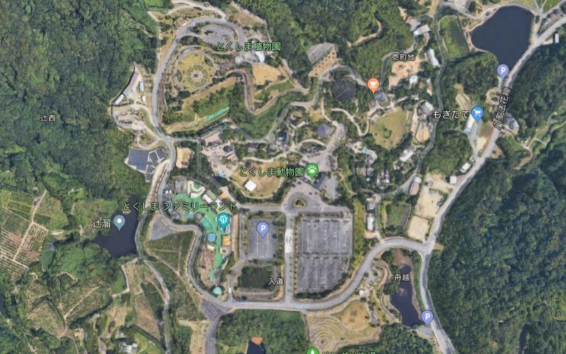 とくしま動物園の地図