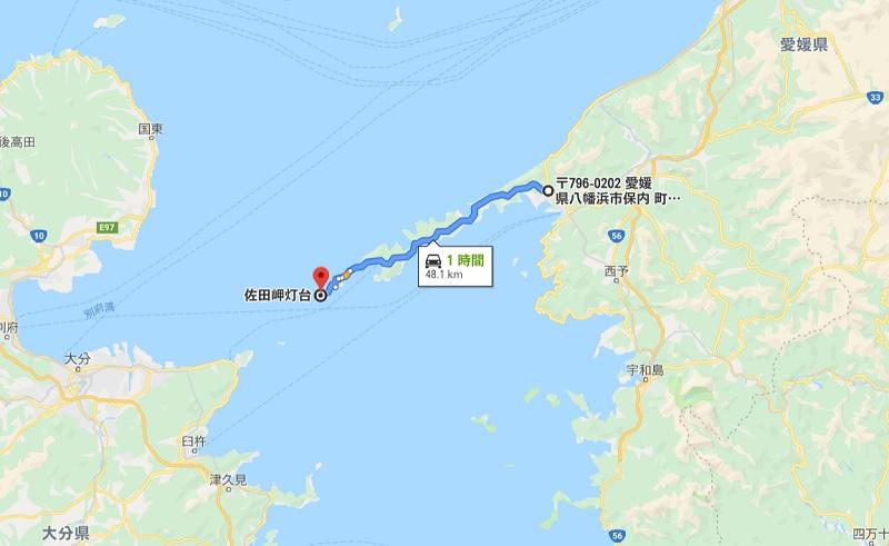 佐田岬半島の全長